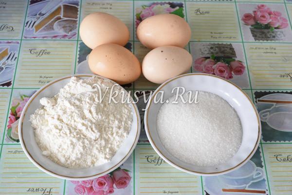 Ингредиенты для коржа