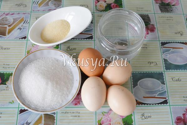 Ингредиенты для Птичьего молока