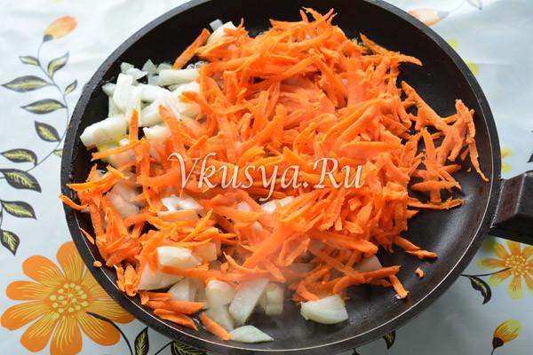 Выложите овощи