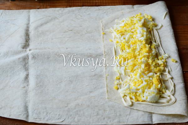 Выложите яйца