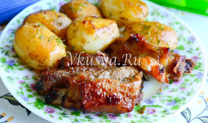 Свиные ребра в медово-горчичном маринаде