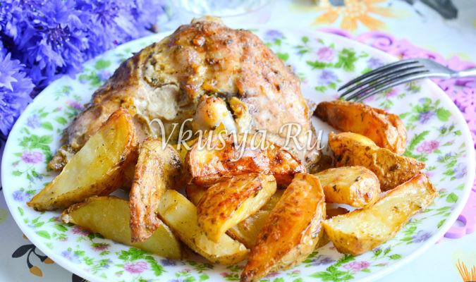 Молодой картофель с мясом