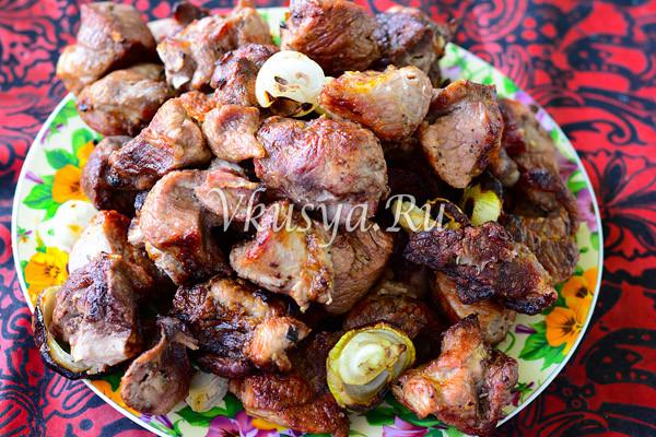 Шашлык из свинины рецепт