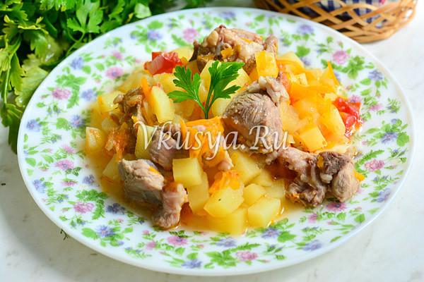 Готовая картофель