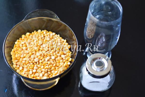 Гороховое пюре в кастрюле - ингредиенты