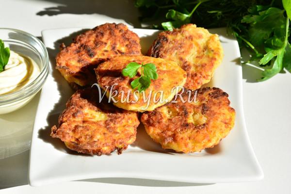 Оладьи из кабачков с фаршем на сковороде-7