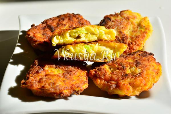 Оладьи из кабачков с фаршем на сковороде-8