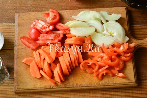 Свинина тушеная с овощами-3