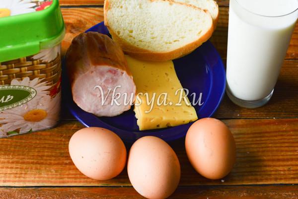 Омлет с сыром и ветчиной-1