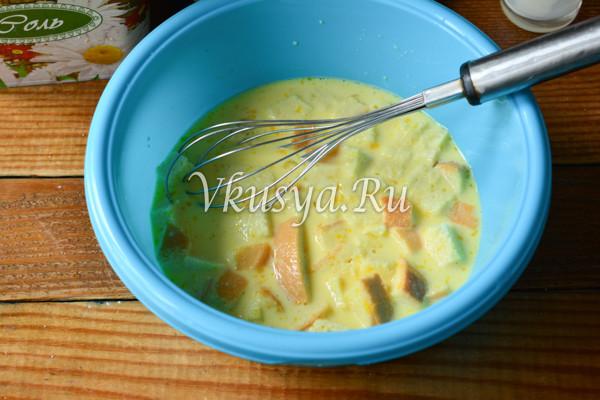 Омлет с сыром и ветчиной-3