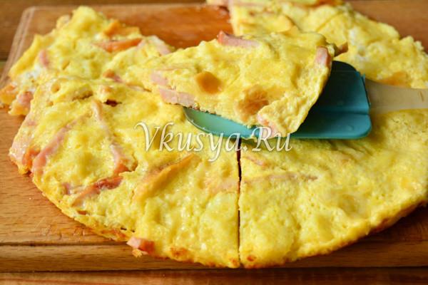 Омлет с сыром и ветчиной-8