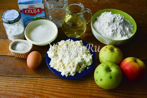 Творожное печенье с яблоками-1