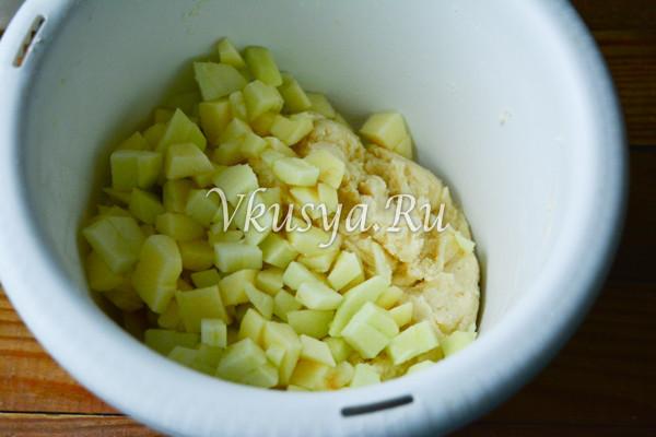 Творожное печенье с яблоками-4