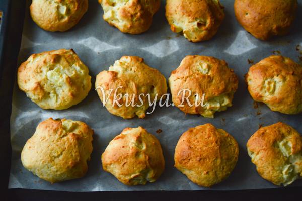 Творожное печенье с яблоками-5