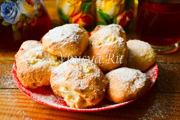 Творожное печенье с яблоками-6
